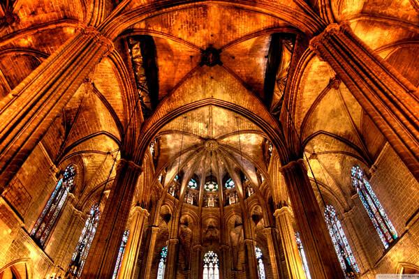 Interior De La Catedral De Barcelona La Rambla Barcelona