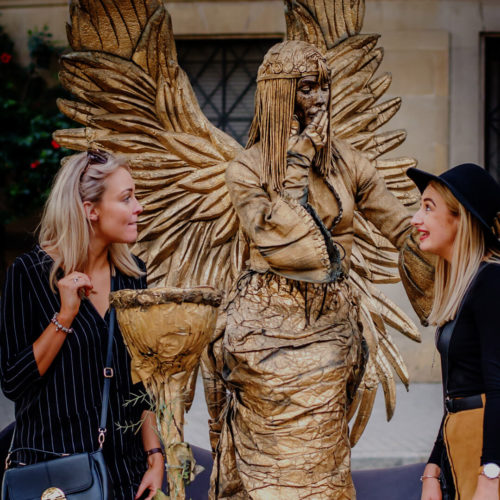 estatuas humanas de la rambla